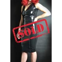 Latex skirt with two zippers (SA-SKI06)