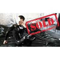 Latex male zipperless catsuit (SA-CAT14)