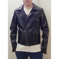 Heavy rubber biker jacket (SA-GJA03) size S2