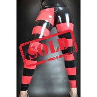 Striped latex leggings (SA-LEG05)