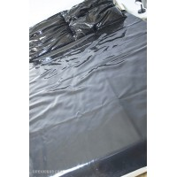 Heavy rubber sheet with straps