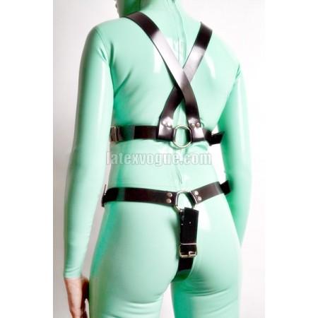 Heavy rubber crotch  harness - KYRA