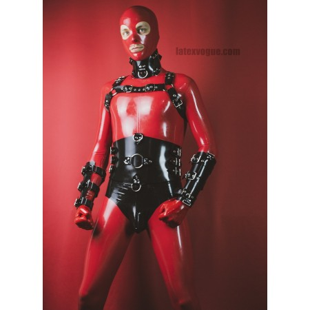 Heavy rubber chest harness - NICO
