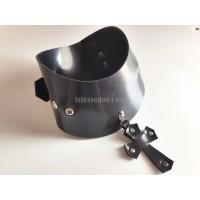 Heavy rubber obojek s přívěskem CROSS