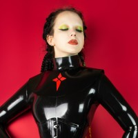 Heavy rubber collar with ornament