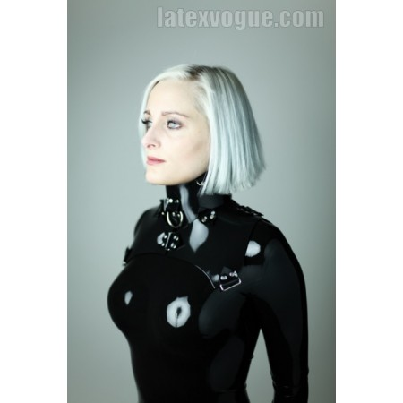 Heavy rubber fixation collar - cut shape
