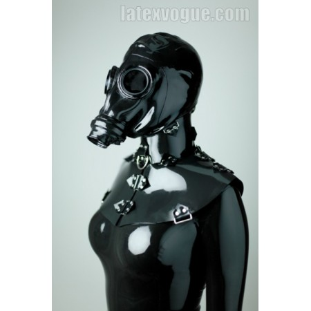 Heavy rubber fixation collar - oval shape