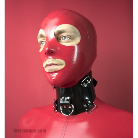 Heavy rubber collar with loops