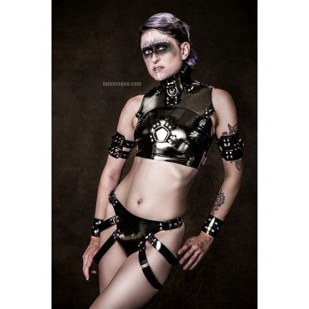 Heavy rubber panties with straps - JUDY