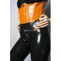 Heavy rubber Strap-on postroj MARILLA