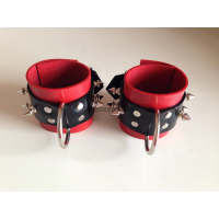 Heavy rubber wrist cuffs with spines