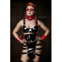 Heavy rubber kilt with straps