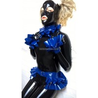 Latex set of frilly belts ILARIA