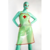 Latex apron with cross
