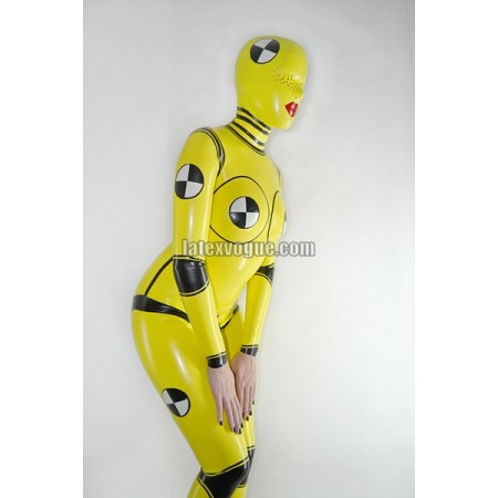 Latexový catsuit - CRASH TEST DUMMY