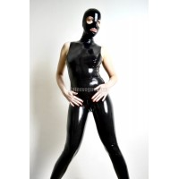 Latex catsuit without sleeves - JANET