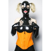 Orange latex corset (SA-COR01)