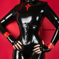 Narrow latex corset - KENDRA