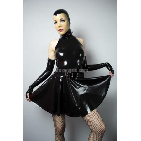 Latexové kolové šaty se stojáčkem - ANGIE