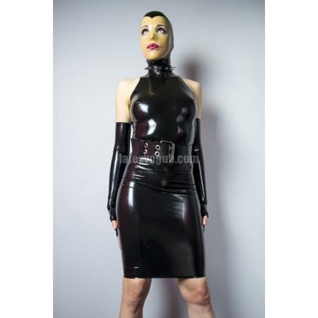 Latexové šaty se stojáčkem - AMY