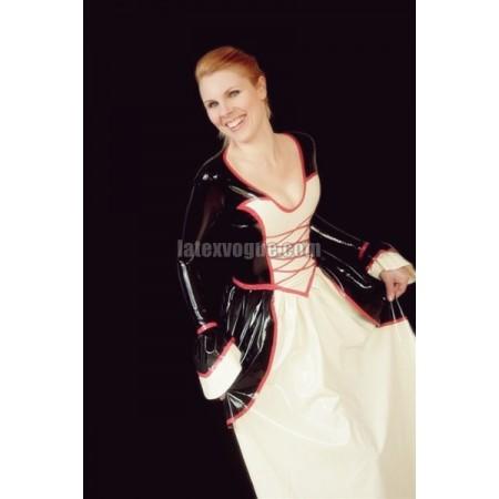 Dlouhé latexové šaty VICTORIA