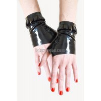 Latex mitts with frill