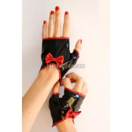 Latexové rukavičky s mašlí
