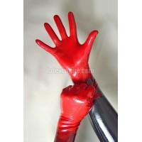 Red short latex gloves (SA-SA05) size M