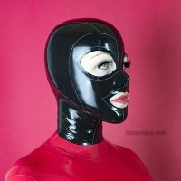 Tight latex hood - LIV