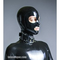 Latex hood with big rounded eye holes - XANDER