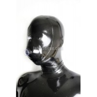 Latex hood with respirator
