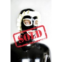 Latex hood - french maid (SA-MAS20)