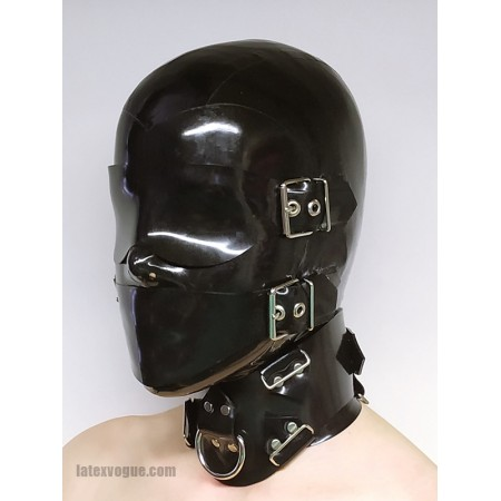Latex hood - BLINDFOLD BUCKLES