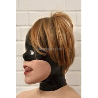 Latex hood with open face - MORCELLE