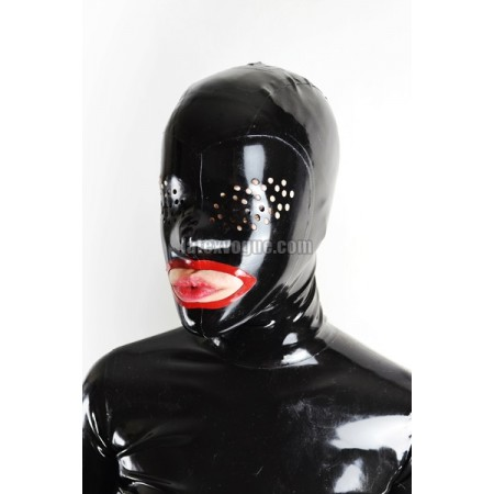 Latex hood with perforated eye holes - ESTEL