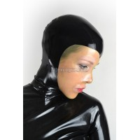 Latex hood with transparent heart shaped face – ERUVYE