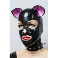 Latex kitty hood