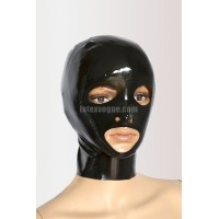 Latex hood with zipper