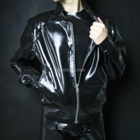 Latex jacket BOMBER