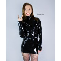 Latex biker jacket - RAMONA