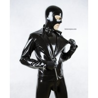 Latex biker jacket