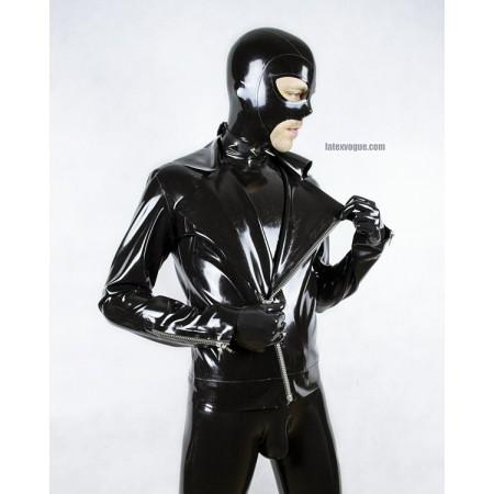 Latexová motorkářská bunda