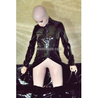 Latex middle length coat