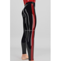 Latex fitness leggings with stripes