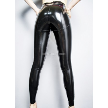 Push-up latex leggings