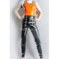 Latexové kalhoty se zipy