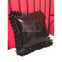 Latex frilly pillow case