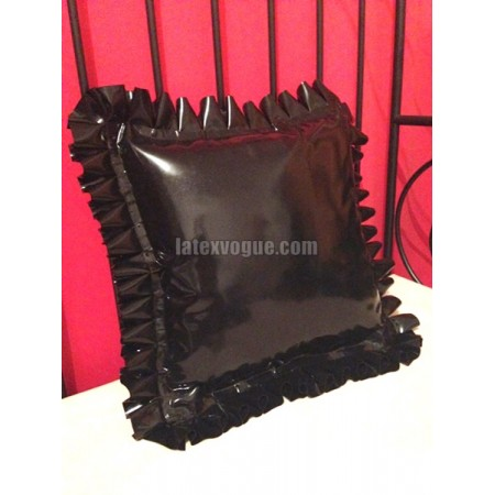 Latex frilly pillow