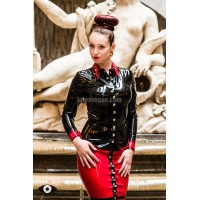 Latex business costume Miss F