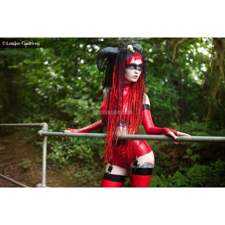 Latex high waisted panties Devil